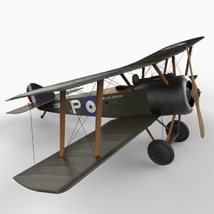 wwi sopwith pup aircraft 3d model