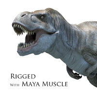 Tyrannosarus Rex with Maya Muscle