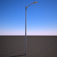 3d model of street light