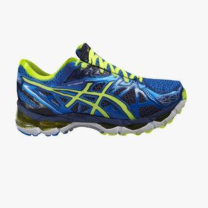 asic s running shoe 3d model