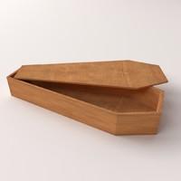 coffin 3d model