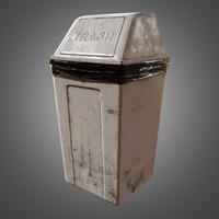Industrial Trash Can - PBR Game Ready