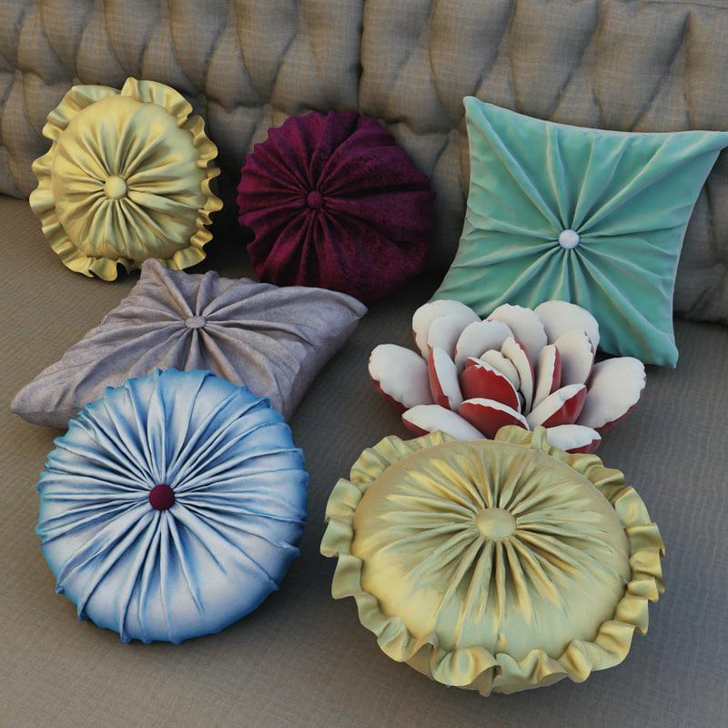 pillows cloth 3d max