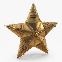 christmas star 3d max