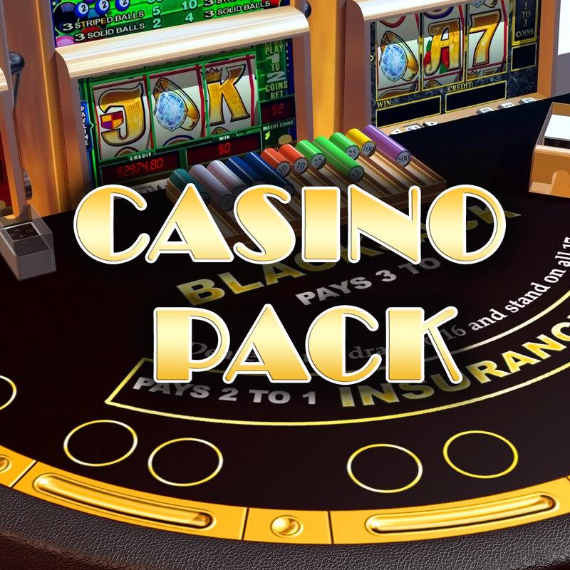 3d model casino pack