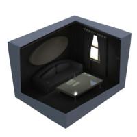 isometric room scene 3d fbx