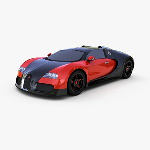 mid-poly bugatti veyron 16 3ds