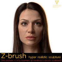 emily hyper realistic female 3d model