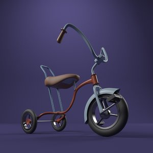 3d model of bicycle cycle cartoon