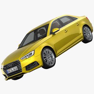 3d model audi a4 s-line sedan