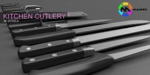 3d kitchen cutlery