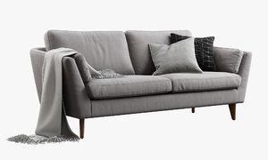 sits mynta two-seat sofa 3d max