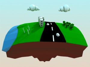 isometric world 3d model