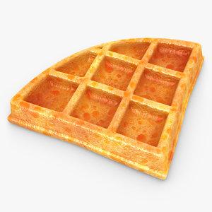 realistic waffle 02 max