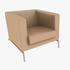 3d armchair 08
