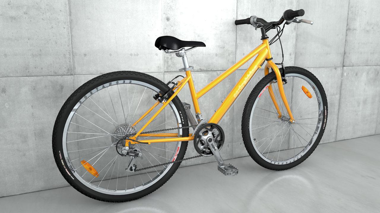 3d obj cross trekking bike