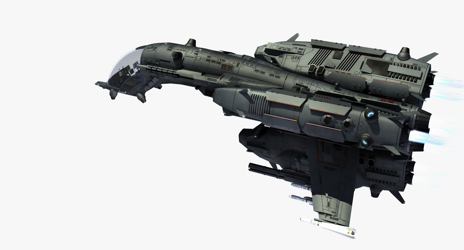 dragonfly space fighter 3d model