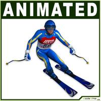White Skier CG