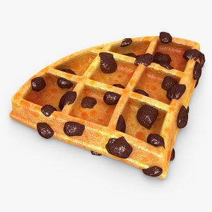 max realistic waffle raisins 02