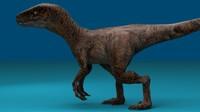 velociraptor dino 3d max