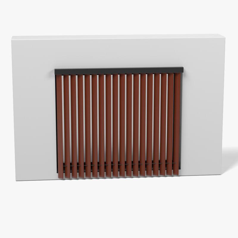 3d model window blinds