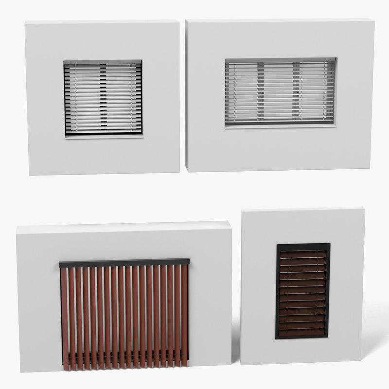 windows blinds 3d 3ds
