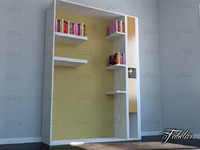 3d model bookshelf mentalray reading