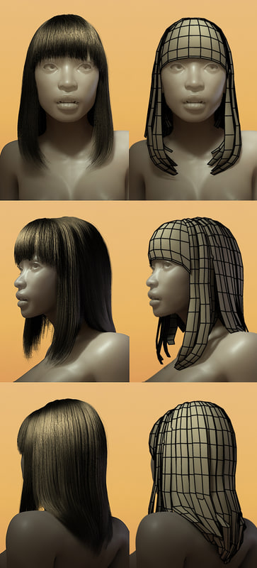 hair styles 3d ma
