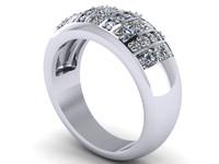 3d diamond ring model