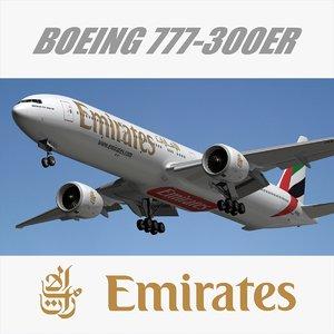 boeing emirates 3d model
