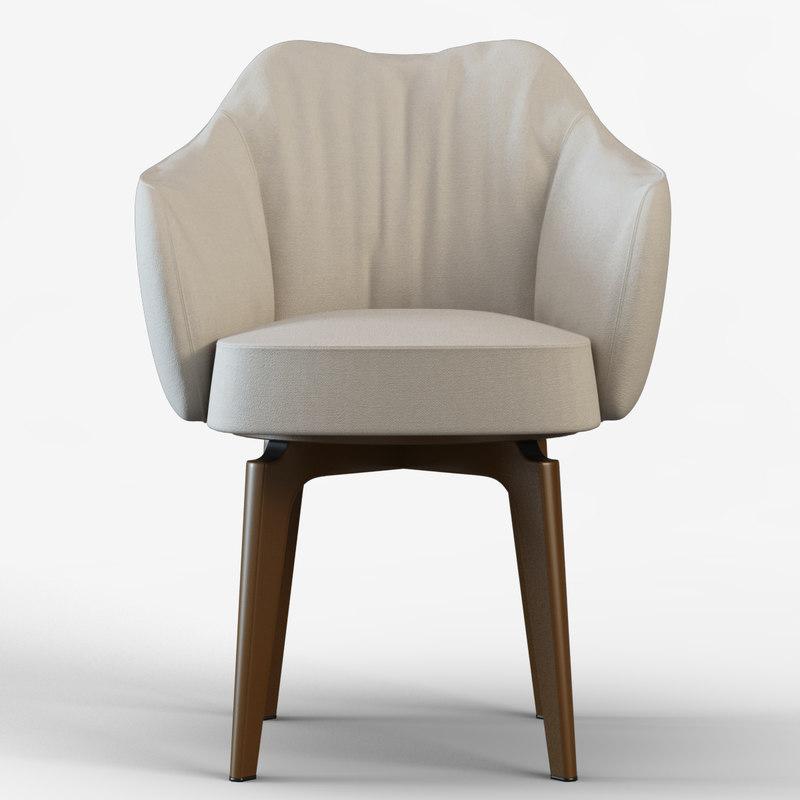 3d model chair giorgetti elisa