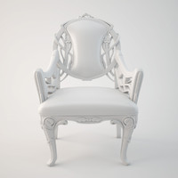 modern art nouveau armchair 3d model