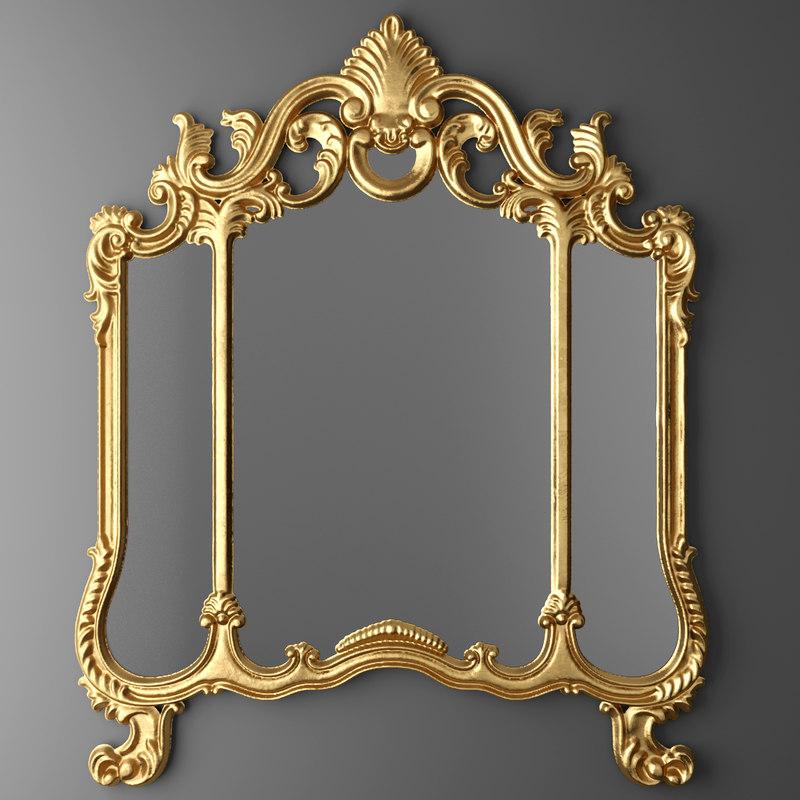 3d model classic mirror