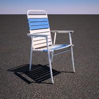 3d model lawn chair