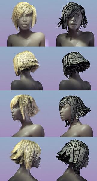 3d hair styles model