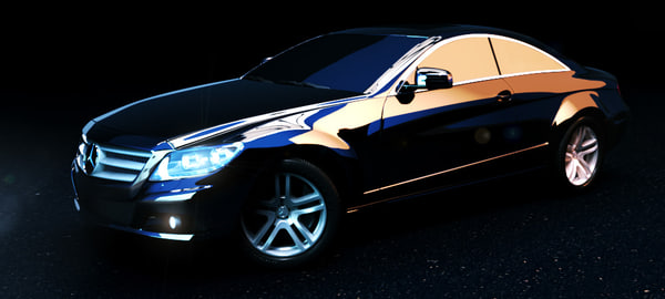 free mercedes benz cl 3d model