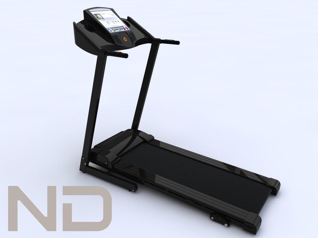 multifunction handheld treadmill 3d max