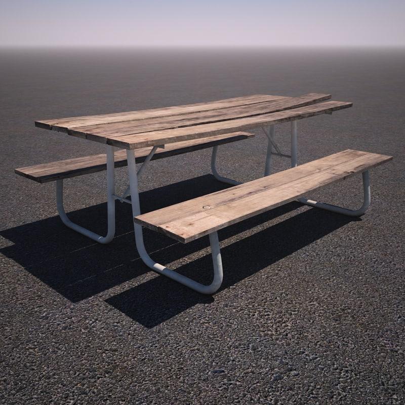 metal picnic table max