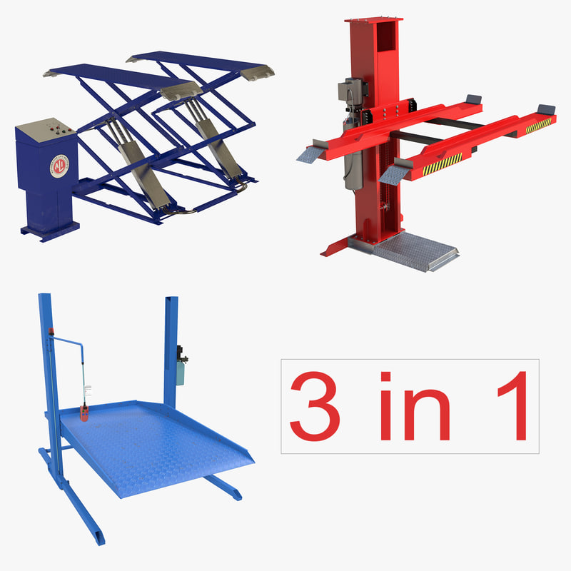 3ds max car lifts rigged