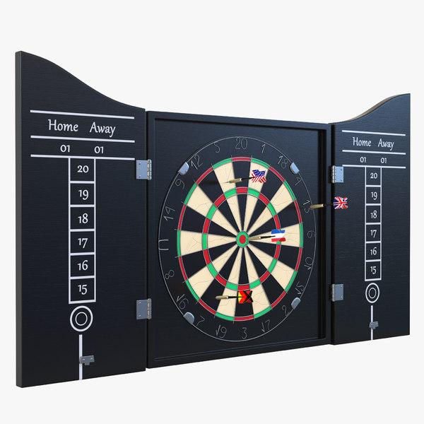 dart board 3 set 3d 3ds