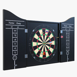 dart board 3 set 3d 3ds