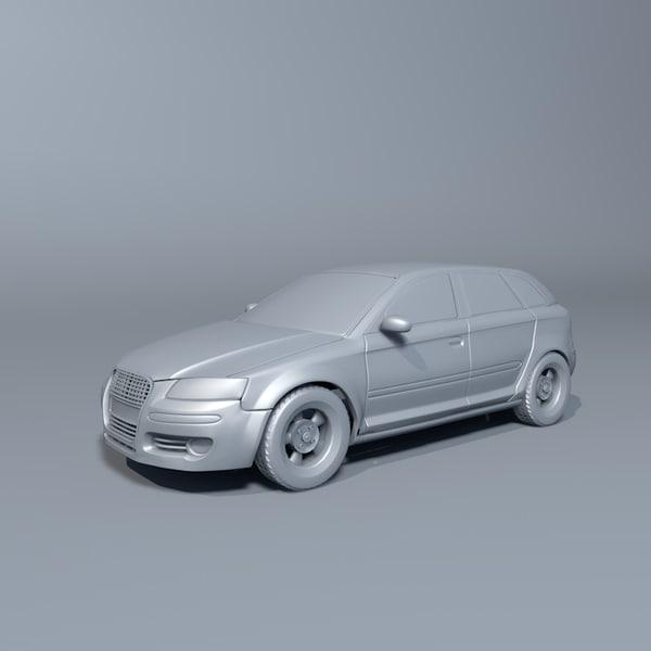 3d a3 car model