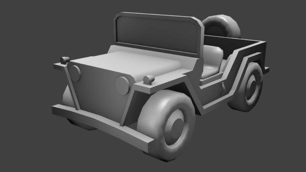3d jeep mutt