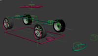 3d rigged car vehicle