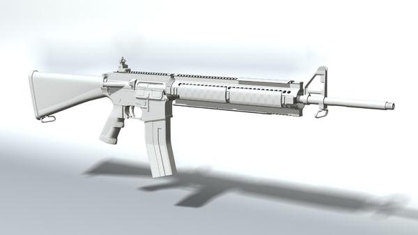 3d ar-15 rendered model