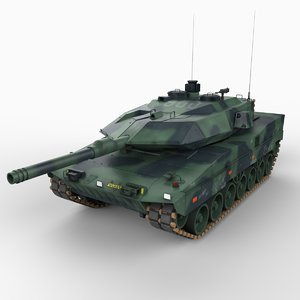 3d model stridsvagn 122 main battle tank