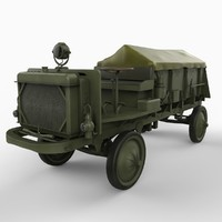 WW1 Nash Quad Truck