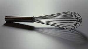 egg whisk 3d obj
