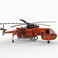 skycrane sikorsky s-64 3d model