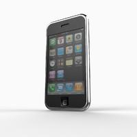 apple iphone 3g phone 3d max